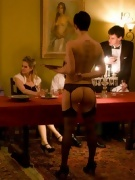 Cum slaves exploited at a private party from The Upper Floor